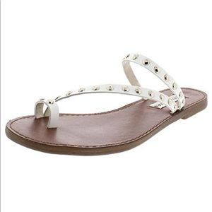 Steve Madden Daria Leather Studded Sandals 9 USED